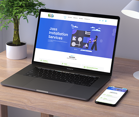 Jass Installation Services Website by Jude Gimeno.
